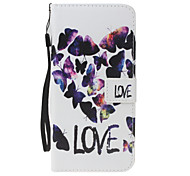 For Samsung Galaxy S8 Plus S8 PU Leather Material Love Type Pattern Wallet Section Phone Case for S7 Edge S7