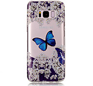 For Samsung Galaxy S8 Plus S8 TPU Material IMD Process Blue Butterfly Pattern Phone Case S7 Edge S7 S6 Edge S6 S5