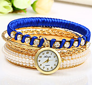 Women's Women Fashion Watch Chinese Quartz Colorful Rose Gold Plated Band Bangle Black White Red Purple Navy
