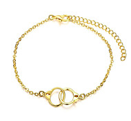 Exquisite Yellow Gold Plated Romantic Handcuffs Style Chain & Link Bracelets Jewellery for Women Accessiories