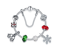 Women's Charm Bracelet Friendship Fashion Alloy Round Jewelry For Anniversary Gift Valentine Christmas Gifts 1pc