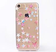 Pour couverture de boîtier imd transparent back case étui géométrique motif étoiles tp doux pour iphone 7 plus 7 6s plus 6 se 5s 5