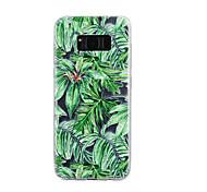 Для samsung galaxy s8 плюс s8 крышка корпуса зеленая листва модель капли клей лак высокое качество тпу материал чехол для телефона s7 edge