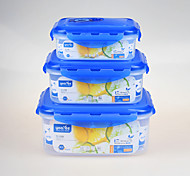 Airtight Clear Plastic Food Container Retangular