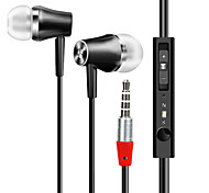 Écouteur intra-auriculaire rentable avec micro hd qualité sonore écouteurs câblés 3,5 mm audio musique prise casque contrôle vocal