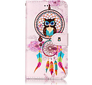 For Huawei P10 Lite P8 Lite (2017) PU Leather Material Windset Owl Pattern Relief Phone Case P10 Plus P10 P9 Lite P8 Lite