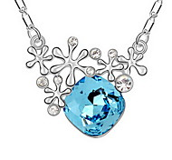 Women's Pendant Necklaces Jewelry Jewelry Gem Alloy Unique Design Fashion Light Blue Red Dark Blue Jewelry For Party Gift Daily Casual 1pc