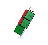 Weitasi cubo u disco usb 2.0 flash drive memória stick armazenamento pen disco digital u disco 32g