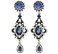 Fashion Blue Color Gemstone Earrings