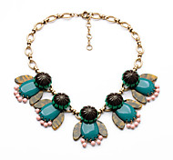 Women's Strands Necklaces Crystal Chrome Unique Design Euramerican Fashion Personalized Dark Green Jewelry ForWedding Party