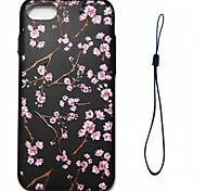 Для яблока iphone 7 7 плюс 6s 6 плюс se 5s 5 крышка корпуса персикового цветка модель впрыск облегчение обшивка кнопка толстый тпу