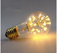 3W E27 LED Glühlampen A60(A19) 3 COB 300 lm Warmes Weiß Dimmbar Dekorativ AC 220-240 V 1 Stück
