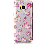 For Samsung Galaxy S8 Plus S8 TPU Material IMD Process Unicorn Pattern Phone Case S7 Edge S7 S6 Edge S6 S5