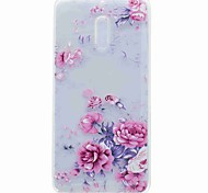For Nokia 6 Case Cover Translucent Pattern Back Cover Case Flower Soft TPU Case