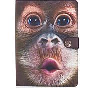 Для яблока ipad pro 9.7 '' ipad air 2 ipad air ipad 4 3 2 случай крышка обезьяна образец окрашенный карта стент кошелек pu кожа материал