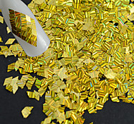 1 бутылка горячей моды новый дизайн блеск золота ослепительно блестка украшения ногтей лазерной полосой ромб тонкий срез для DIY красоты