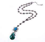 Women's Pendant Necklaces Drop Chrome Unique Design Personalized Dark Green Jewelry For Gift Outdoor 1pc
