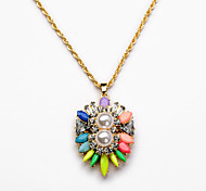 Women's Pendant Necklaces Geometric Chrome Unique Design Euramerican Rainbow Jewelry For Party Gift Christmas Gifts 1pc