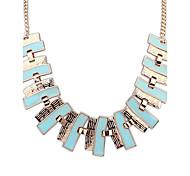 Women's Strands Necklaces Jewelry Jewelry Rhinestone Alloy Euramerican Fashion Personalized Light Green Light Blue Rainbow Jewelry For