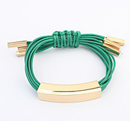 Women's Men's Leather Bracelet Jewelry Fashion Bohemian Leather Alloy Irregular Jewelry For Party Special Occasion Gift