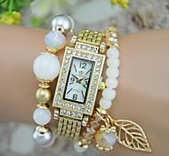 Женские Модные часы Часы-браслет Кварцевый Plastic Группа Кольцеобразный Черный Белый Синий Красный Зеленый Фиолетовый Бежевый