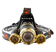 Налобные фонари LED 4800 lumens Люмен 4.0 Режим Cree T6 Батарейки не входят в комплект Фокусировка Ударопрочный Перезаряжаемый