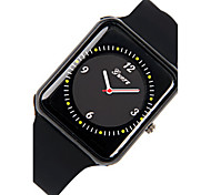 Women's Fashion Watch Chinese Quartz Silicone Band Black White Red Brown Red Black