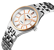 SKMEI® Women's Luxury Slim Stainless Steel Quartz Watch Cool Watches Unique Watches Fashion Watch Strap Watch