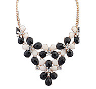 Women's Statement Necklaces Jewelry Jewelry Pearl Gem Alloy Euramerican Fashion Bohemian Light Green Light Blue Black White Jewelry For