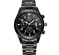 Men's Dress Watch Fashion Watch Quartz Stainless Steel Band Casual Black Black