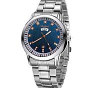 Men's Dress Watch Fashion Watch Quartz Calendar Alloy Band Silver