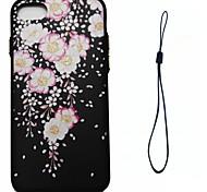 Для яблока iphone 7 7 плюс 6s 6 плюс se 5s 5 крышка корпуса цветка шаблон впрыскивания облегчение обшивка кнопка толще материал tpu phone