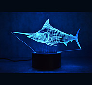 Tortues marlin de marlin touchant gradation 3d led lumière de nuit 7colorful décoration atmosphère lampe nouveauté éclairage lumière de