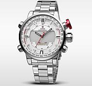 WEIDE Мужской Спортивные часы Армейские часы Японский Цифровой Японский кварцLED Календарь Защита от влаги С двумя часовыми поясами