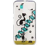 Для IMD Прозрачный С узором Кейс для Задняя крышка Кейс для Кот Мягкий TPU для Motorola Moto G4 Play Мото G4 Plus