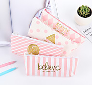 Pink Stripe Stationery Bag 1 PCS