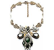Women's Strands Necklaces Flower Chrome Unique Design Euramerican Fashion Dark Green Jewelry For Wedding Congratulations 1pc