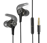 BYZ Q8 Mobile Earphone for Computer In-Ear Wired Metal 3.5mm With Microphone Noise-Cancelling