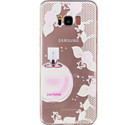 For Samsung Galaxy S8 Plus S8  IMD Transparent Case Back Cover Case Perfume Soft TPU for S7 edge S7 S6 edge S6 S5