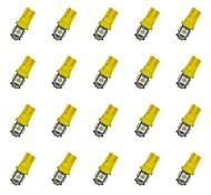 20pcs t10 5 * 5050 smd führte Auto Glühlampe gelbes Licht dc12v