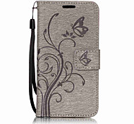 For Samsung Galaxy A7(2017) A5(2017) PU Leather Material Butterfly Flowers Pattern Solid Color Phone Case A3(2017) A510 A310