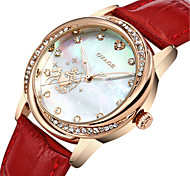 Women's Fashion Watch Swiss Quartz Leather Band Casual White Red Pink Blushing Pink Red White