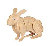 Jigsaw Puzzles 3D Puzzles Building Blocks DIY Toys Rabbit Wood Model & Building Toy