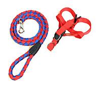 Harness Leash Portable Adjustable Safety Color Block Nylon Random Color