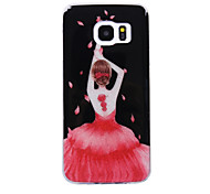 For Samsung Galaxy S8 S8 Plus Case Cove Dancing Girl Pattern Flash Powder IMD Process TPU Material Phone Case S7 S6 Edge