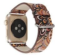 Padrão nacional pulseira de couro bracelete pulseira pulseira para relógio de maçã 1 2