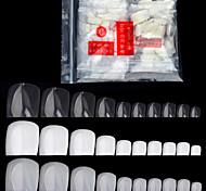 500 шт / пакет поддельные искусственные акриловые ложные ногти советы ногтей натуральный белый прозрачный ногти ног ног маникюр красоты