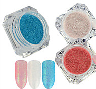 0.2g/bottle New Candy Color Nail Art DIY Beauty Glitter Sugar Coating Powder Fashion Beautiful Shining Mermaid Design Sparkling Decoration TY31-33