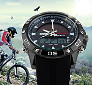 SKMEI  Solar Dual Display Wristwatches Fashion Digital Sport Watch Chronograph Alarm Waterproof Quartz Watches