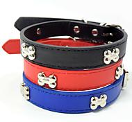 Creative Fashion Bone Style PU Pet Collar Small Cat Dog Collars Dog Harness Christmas Accessories